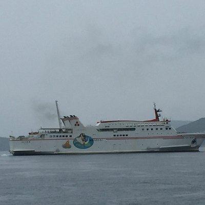 別府港から船が発っていく様子が見ることができます。