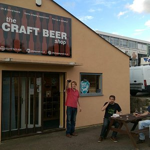 Front of the craft beer shop