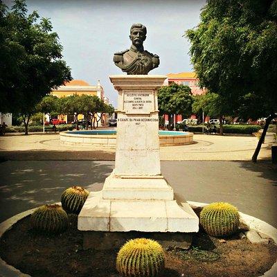 Statue of Alexandre Alberto da Rocha in Alexandre Albuquerque Park built in 1927