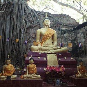 ภายในวิหาร มีพระพุทธรูปเก่าแก่ ให้บูชา สักการะ ครับ