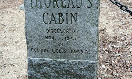 Site of Thoreau's Cabin, discovered in 1940s