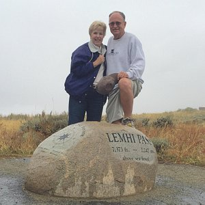 On a rainy cold September day we drove over the pass. It is remote. The gravel road becomes one
