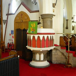 Very colourful pulpit