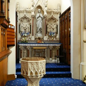 Side Altar and Font