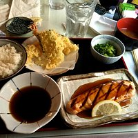 Salmon Teriyaki and Tempura