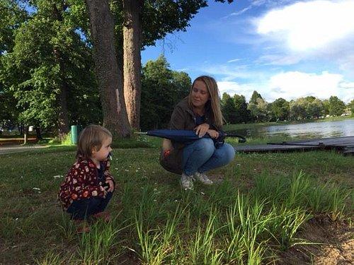 Я с ребенком на этом озере)))