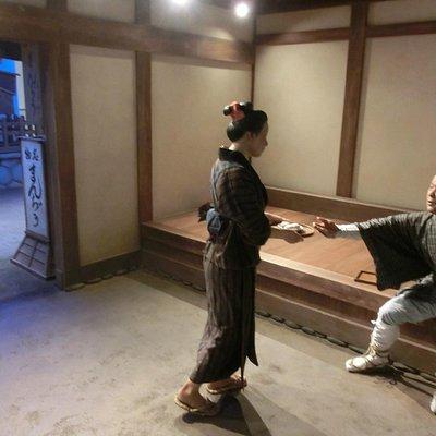 江戸時代のまんじゅう屋を再現