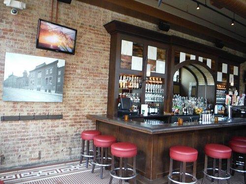 Inside 'The Lackman' bar