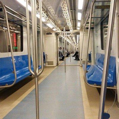 Inside a metro