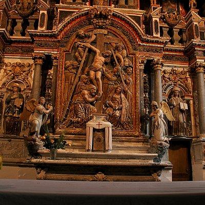 Détail de l'autel principal, inférieure: