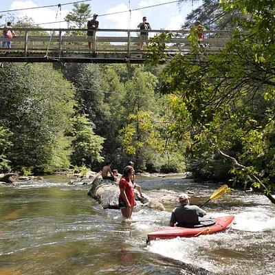 Tocca River bridge with Tocca river