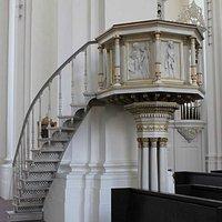 Jesuit church inside pulpit