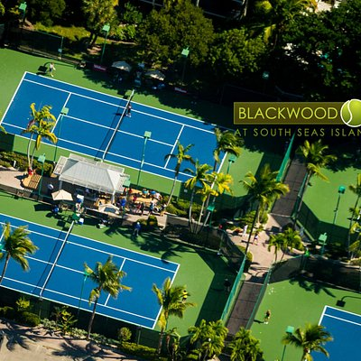 South Seas Tennis courts from above.