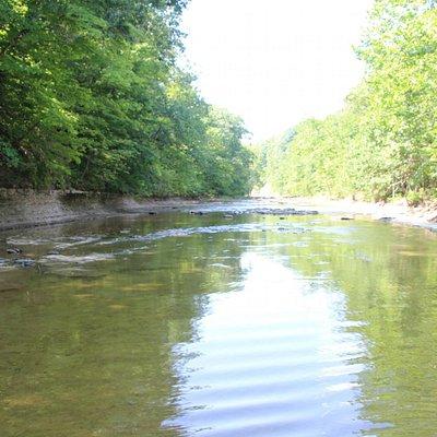 Olin's Covered Bridge - View upstream