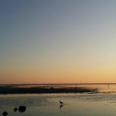 마시안 해변의 일몰
