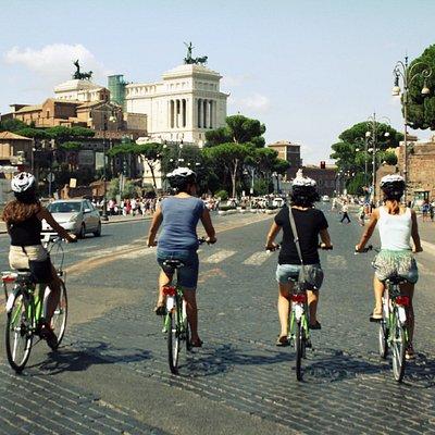 Rome Ebike Tour in Fori Imperiali