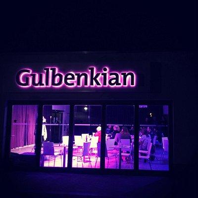 Gulbenkian exterior at night