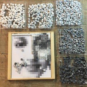 Contemporary pixel mosaic class