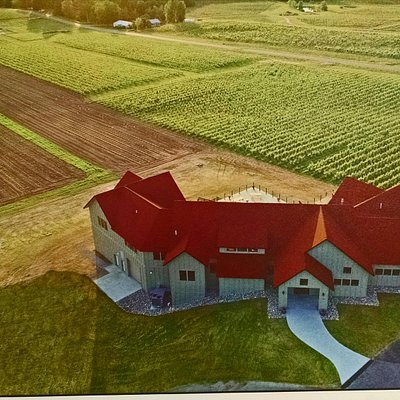 aerial view from a  picture in the tasting room