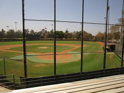Major League-sized baseball field