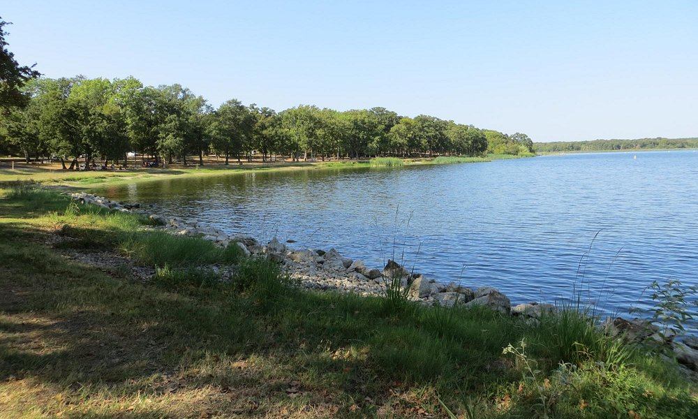 Swimming area - Fairfield Lake State Park