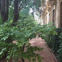 Very tranquil area in heart of city.  Take a stroll through the University building too with coo