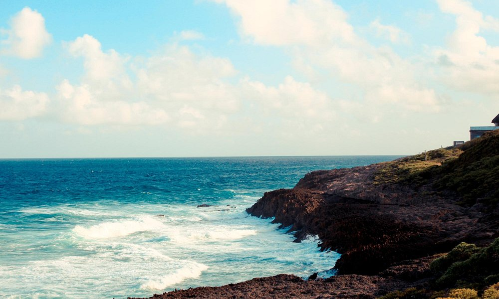 Uma parte da praia do Tofo que fica mais afastada