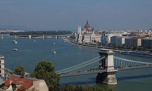 Blick von der Burg in Budapest