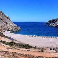 Zorkos. A beautiful beach in Andros.