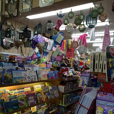 Kids books, clothes, mirrors, lanterns at Sea Shell Shop