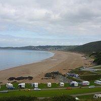 View of beach from Putsborough