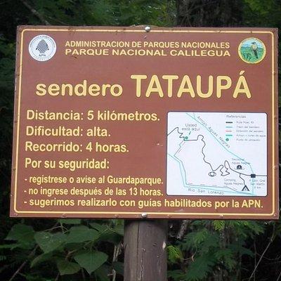 Inicio del Sendero Tataupá