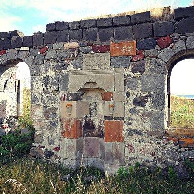 Zorakert Mosque ruins in Zorakert, Armenia