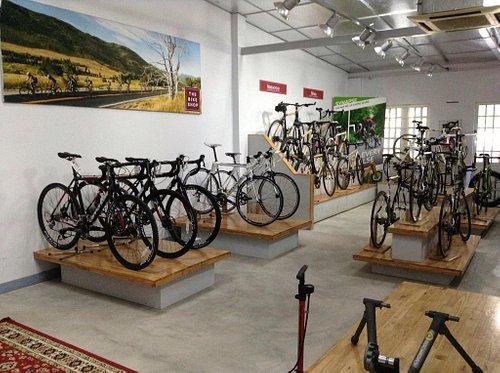 A picture I took inside The Bike Shop