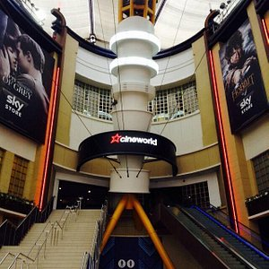 This is the main entrance , you ascend the stairs to enter the cinema