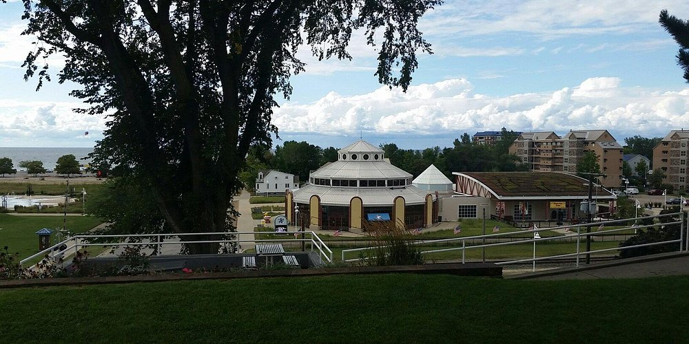 View of carousel from top of the bluff