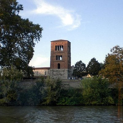 Vista dal battello sull'Arno