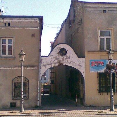 Edificación antigua en la plaza del mercado