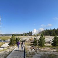 Path to Grand Geyser