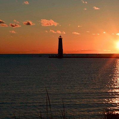 Sunset on the beach-overlooking Lake MI