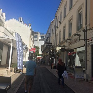 Nice shopping street for chocolate, bon bon. For jewelleries, handbags, nice landscape and build