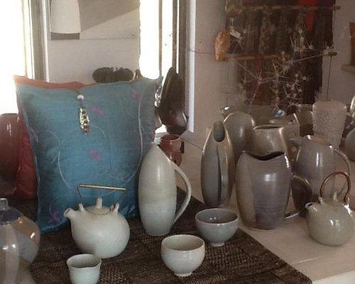 Stoneware ceramics and textiles