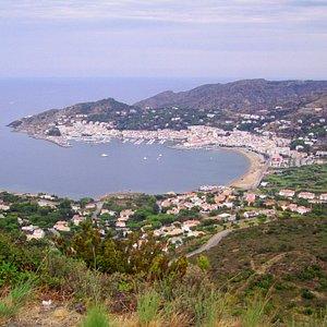 La baie de Port de la Selva (vue du Monastère)