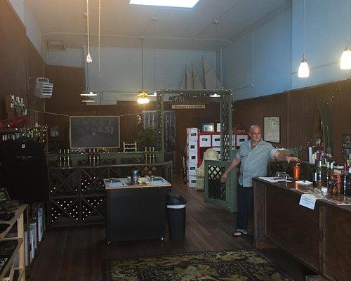 Inside the wine shop