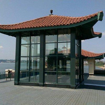 Pagoda & building