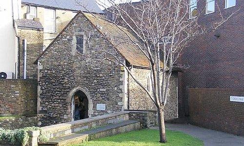 Exterior of St Edmund's Chapel, Dover