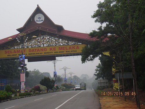 Welcoming sign at the highway