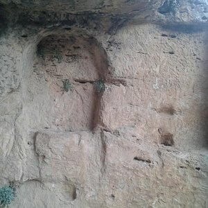 Detalle altar exterior, detalle arquitectura exterior cuadrada