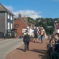 Cliffe High Street around the bridge over the River Ouse (August/September 2015)