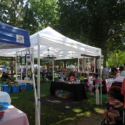 Tents with vendors' specialties